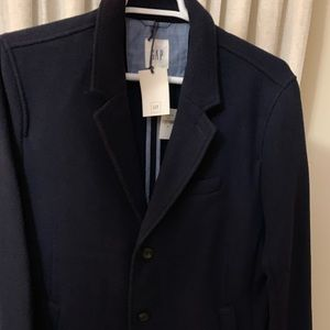 NWT- XL GAP MENS wool  NAVY DRESS COAT